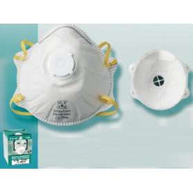 Boîte de 10 masques avec valve FFP1