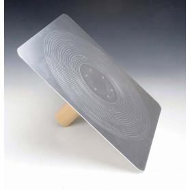 Support a enduit en aluminium 33 x 33 cm poignée en bois Kraft
