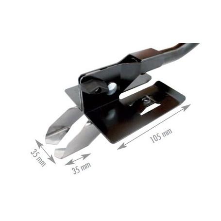Bilame 35 x 35 mm + capot de sécurité pour Canalcut EDMA